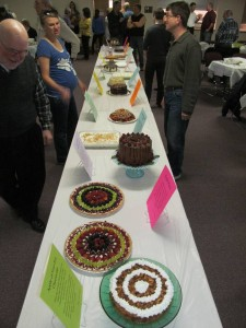 16 desserts were entered and raised $3,500 for the youth misison trip